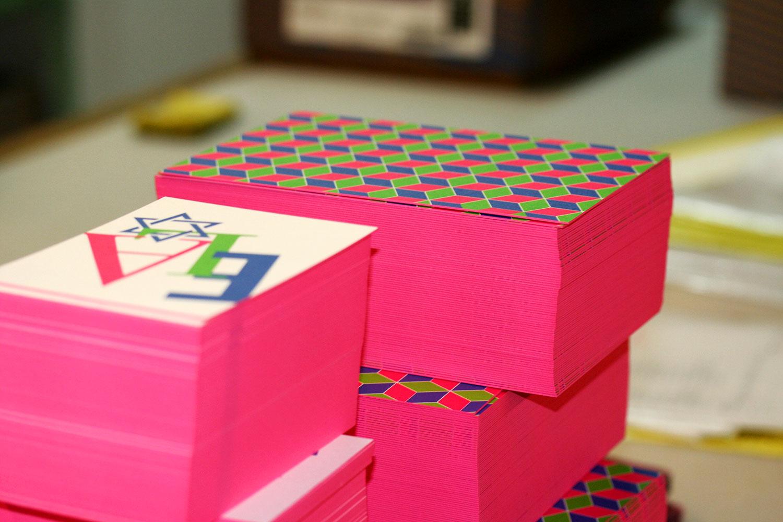 edge color postcards, edge color invitations, thick postcards, thick invitations